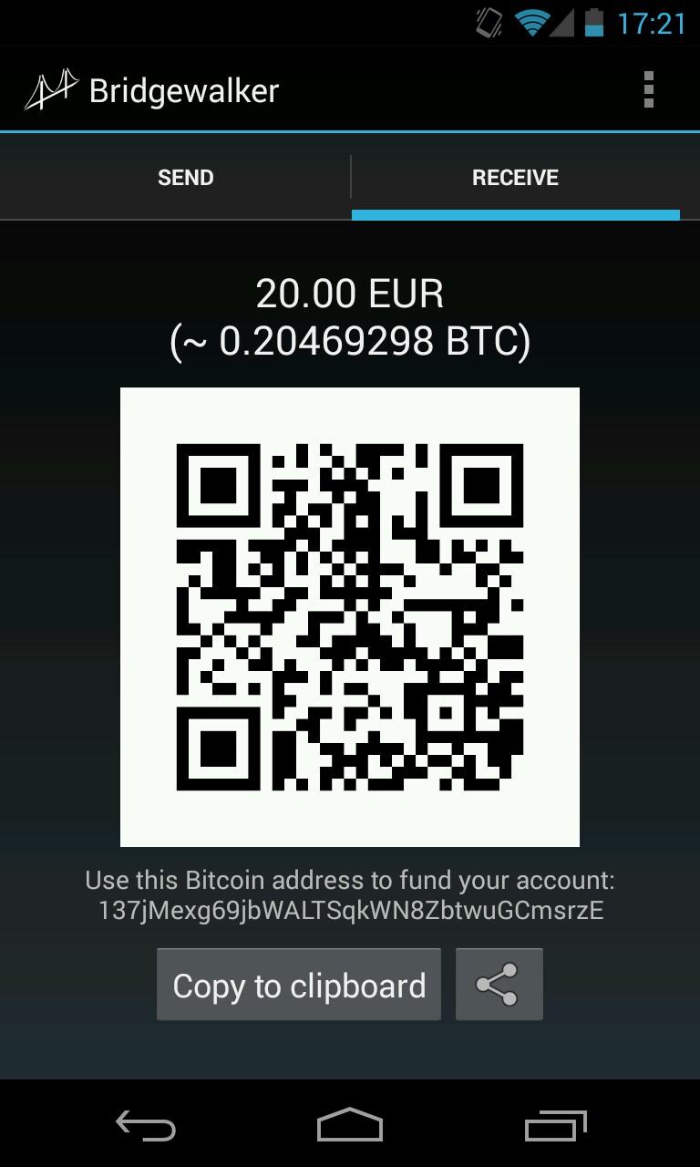 Bridgewalker Euro Denominated Wallet For The Bitcoin Economy
